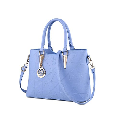 Emotionlin Style Europei Femminili Borsa Spalla Pure Color Pu Leather Tote Di Donne Zip Pouch Bag(Green)