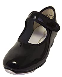 Child Freedom Velcro Strap Tap Shoe Danshuz (10.5M Black)