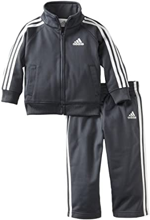 Adidas Baby-boys Infant Core Tricot Set, Grey, 9 Months