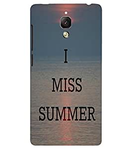 Back Cover for OnePlus Three I miss Summer