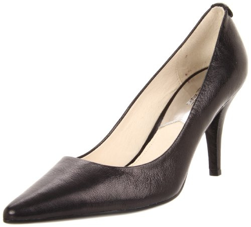 Decolletè Michael Kors MK-Flex Mid Pump in pelle morbida nera, Nero, 40