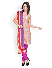 EQ Women Pure Cotton Blue Color Salwar Suit. - B00X7CY4UK