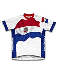 Paraguay Flag Short Sleeve Cycling Jersey for Women