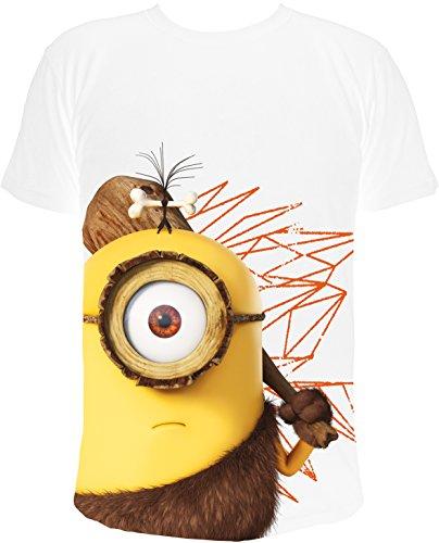 MINIONS -  T-shirt - Collo a U - Uomo bianco Small