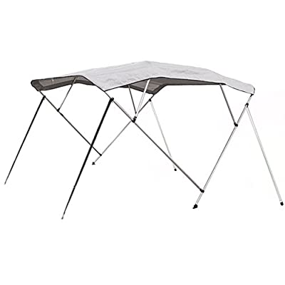 """Best Choice Products SKY1407 600D UV 4 Bow Bimini Waterproof Top Boat Cover (New 91""""-96"""" 8')"""