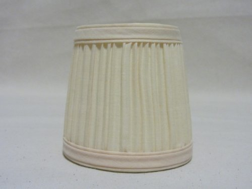 Pleated Cream Fabric Chandelier Lampshades - Set of 6