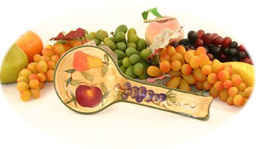 Tuscany Grapes Fruit Wine Decor KITCHEN SPOON REST