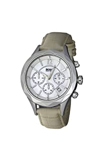 Hugo Boss Ladies Quartz Watch with Mother Of Pearl Dial Chronograph Display and Pink Leather Strap 1502168