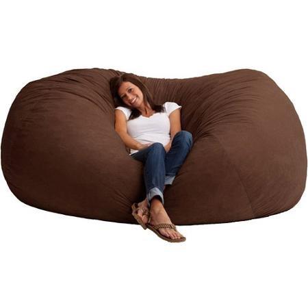 Comfort Research XXL 7' Fuf Comfort Suede Bean Bag, Espresso (Comfort Research Espresso compare prices)