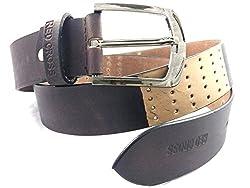 REDCROSS Men's Genuine Leather Belt(RCMB002_Brown)