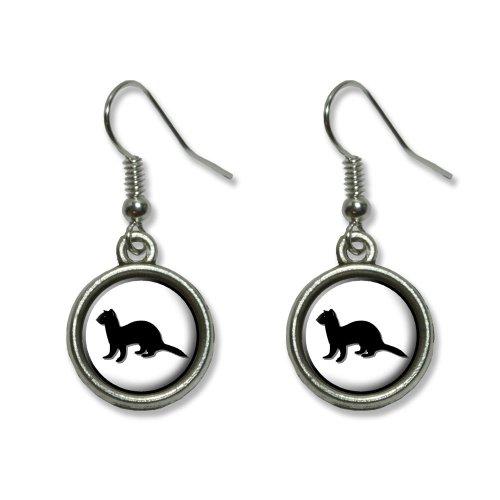 Ferret - Weasel Novelty Dangling Dangle Drop Charm Earrings