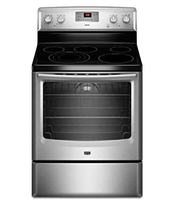 """Maytag MER8775AS 30"""" Stainless Steel Electric Smoothtop Range - Convection"""