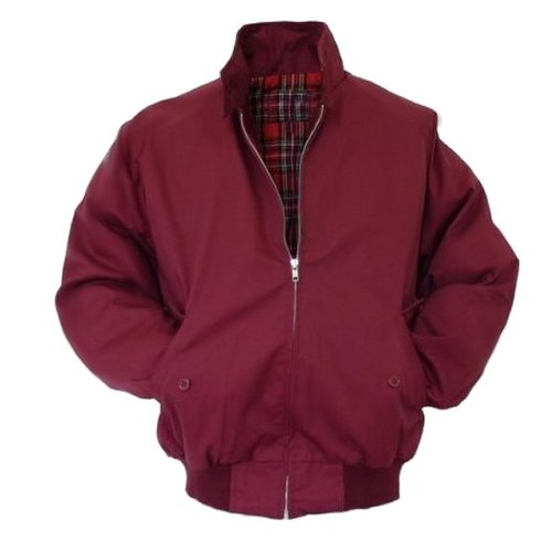 Viper London - Giacca Harrington - fodera in tartan rosso - bordeaux - XL