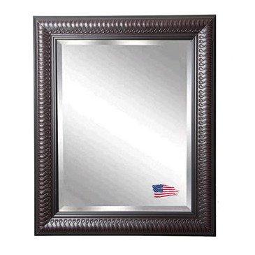 American Made Rayne Royal Mahogany Curve Beveled Wall Mirror, 32 X 38 front-465908