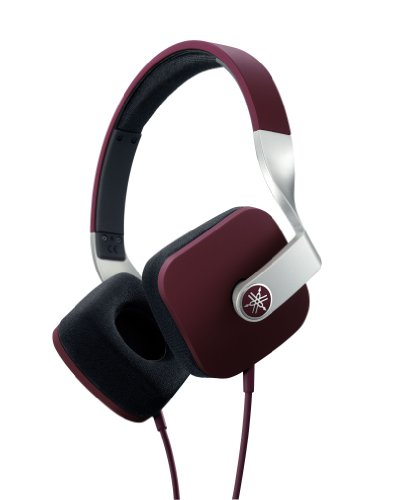 Yamaha Hph-M82Br High-Definition On-Ear Headphones, Brown/Burgundy