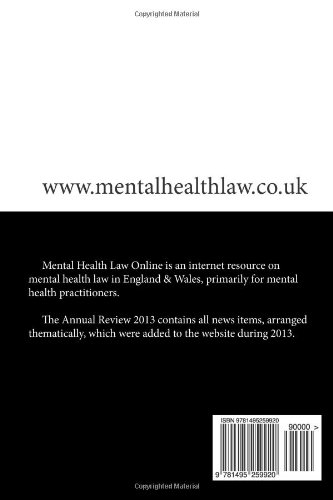Mental Health Law Online: Annual Review 2013