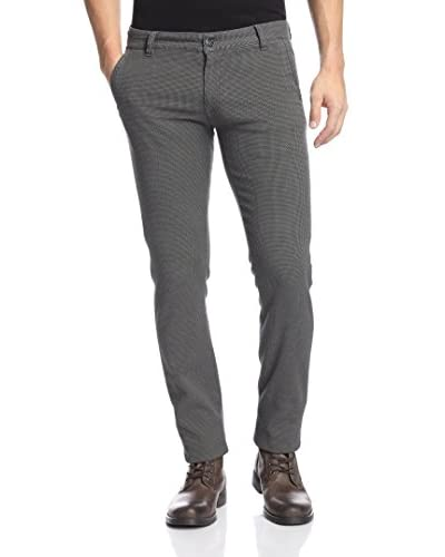 Canali Men's Skinny Check Trouser