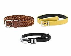 Oleva Ladies Belt combo set of 3 ODC-015