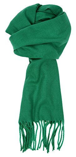 Love Lakeside-Women's Cashmere Feel Winter Solid Color Scarf Kelly Green