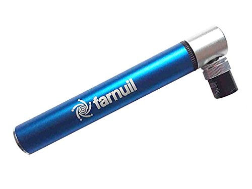 Bike Mini Pump. Capability Pocket-Sized with Optimized Air Flow 100 PSI, Mounting Bracket, Presta-Schrader Valves, CNC Aluminum, Lightweight 72 Grams.