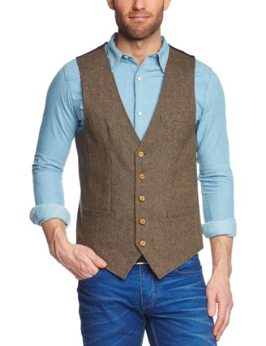 Selected Homme Jeans Phil C Men's Waistcoat Brown  EU 48