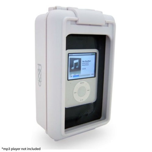 Isplash Ipod Mp3 Waterproof Speaker & Holder Color White, Model Si-Isplashww