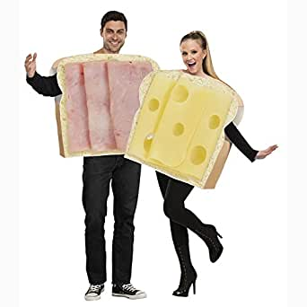 HAM AND SWISS COUPLE ADULT COSTUME SIZE STANDARD