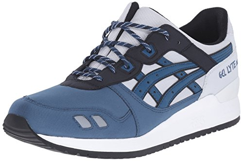 ASICS GEL Lyte III Retro Running Shoe, Soft Grey/Dragon Fly, 9 M US