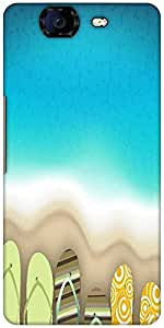 Snoogg Abstract Summer Background Designer Protective Back Case Cover For Micromax Canvas Knight A350