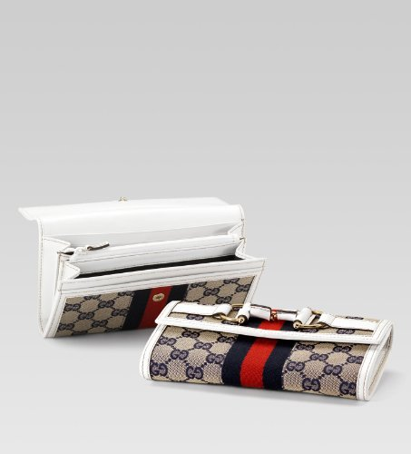 Gucci Continental Wallet with Horsebit and Web Detail