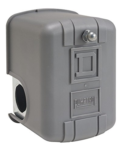 Square D by Schneider Electric 9013FHG52J59X Air-Compressor Pressure Switch, 175 psi Set Off, 40 psi Fixed Differential, 1/4