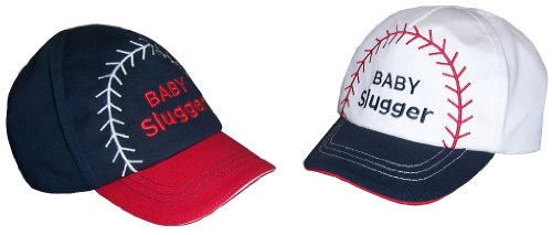 nice-caps-baby-boy-baby-slugger-embroidered-ball-cap-12-18-months-navy-red