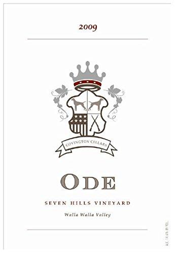 """2009 Covington Cellars """"Ode"""" Seven Hills Vineyard Brunello Style Sangiovese Grosso 750 Ml"""