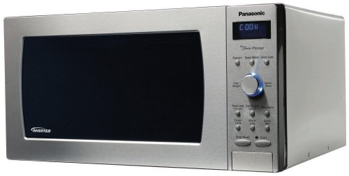 "Panasonic NN-SD997S Genius ""Prestige"" 2.2 cuft 1250-Watt Sensor Microwave with Inverter Technology & Blue Readout, Stainless Steel"