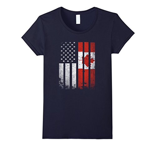 womens-canada-flag-t-shirt-canadian-america-flag-vintage-shirt-small-navy