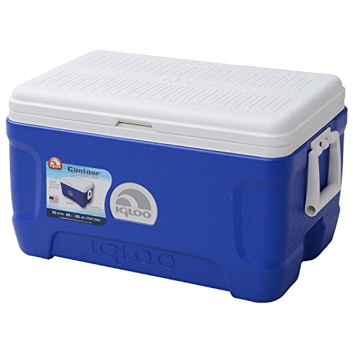 Igloo Products Corporation 00044952 Contour Cooler, 52 quart, Blue (52 Quart Cooler compare prices)