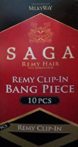 SAGA REMY CLIP-IN BANG 10PCS #6