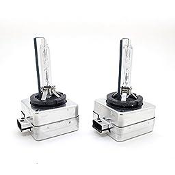 2pcs D3S 35W XENON HID Light Bulbs 4300K 5000K 6000K HID lamp - 1 Year Warranty (4300K-Warm White)