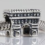 France Paris Triumphal arch Authentic 925 Sterling Silver Bead Fits Pandora Chamilia Biagi Troll Charms Europen Style Bracelets