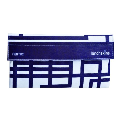 LunchSkins Snack Bag, in Blue Design - 1