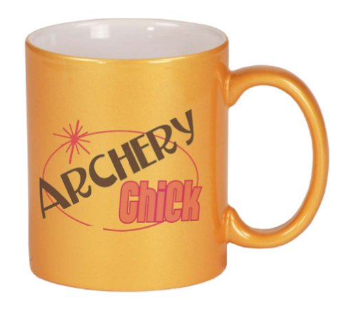 ARCHERY Chick Coffee Mug Metallic Gold 11 oz