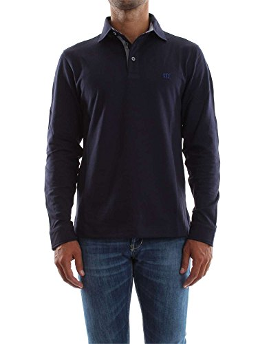 HENRY COTTON'S B20128334350-83220 MIDNIGHT POLO M/LUNGA Uomo MIDNIGHT M