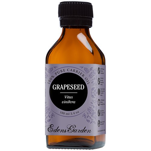 Grapeseed 100% Pure Carrier/ Base Oil- 3.4 oz (100 ml) by Edens Garden