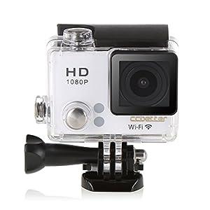 ccbetter@ CS810W 2.0 '' TFT LCD écran Wifi 1080P Sport Waterproof Camera HD Action Caméra 140 degrés grand angle DV Recorder Voiture Helmet Diving Caméra (Blanc)