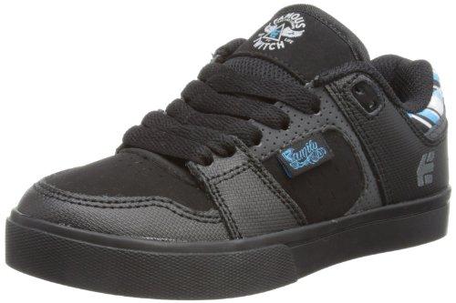 Etnies Fsas X Twitch Rockfield Skate Shoe (Toddler/Little Kid/Big Kid),Black/Dark Grey,4 D Us Big Kid