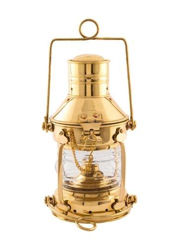 "Hurricane Lanterns Brass Anchor Lamp 10"" - Ship Lantern"