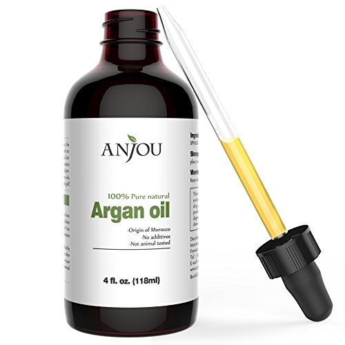 Argan Oil from Morocco - 4 fl. Oz - Perfect for Hair & Skin, Organic Extra Virgin Moisturizing Oil, Diluting Therapeutic Grade Essential Oils as Massage Oil