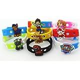 16pcs (Puppy Power) Paw Patrol Shoe Charms & Wristband Bracelet Kids Party Gifts