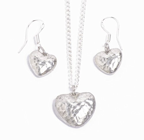 Tin 10 Year Anniversary Pendant and Earring Set