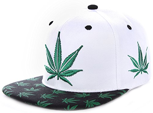 Enimay-Hemp-Weed-Marijuana-420-Ganja-Stoner-Leaf-Adjustable-Ball-Cap-Hat